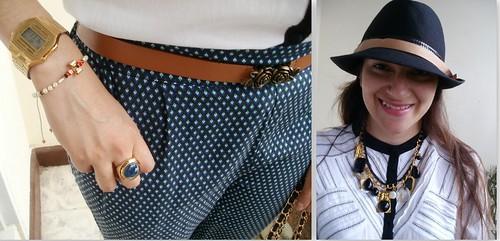 pantalones estampados, accesorios vintage