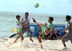 beach, play, sports, sea, beach soccer, team sport, football, ball game, ball,