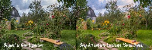 Dacha Original image and Snap Art Impasto Landscape image