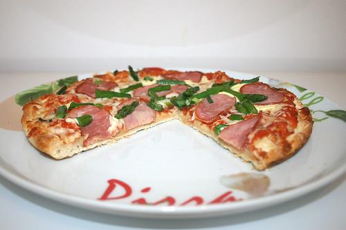 10 - Wagner Die Backfrische Spargel Schinken - angeschnitten / Wagner Pizza asparagus ham - cut