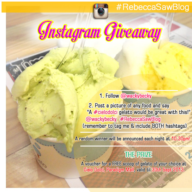 Cielo dolci Instagram Giveaway