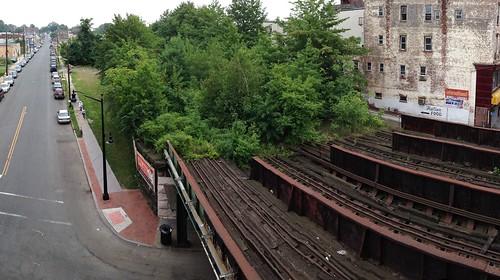 The old overgrown tracks at Elizabeth Station