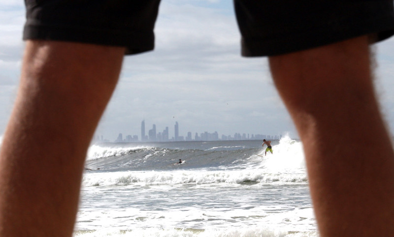 Surfers in Coolangatta