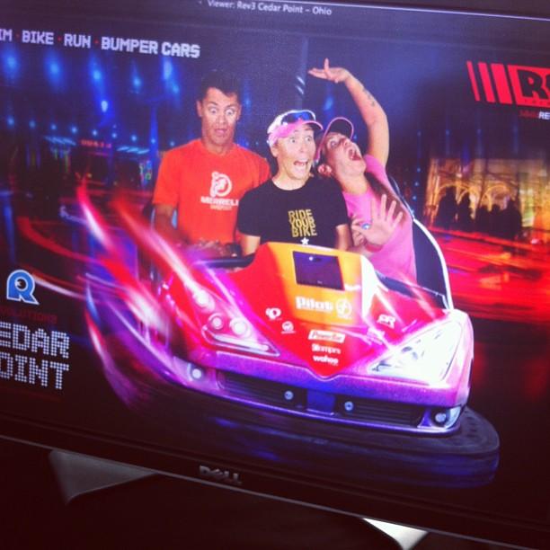 Catching the rides at #rev3cedarpoint @imtrigirl @rev3tri