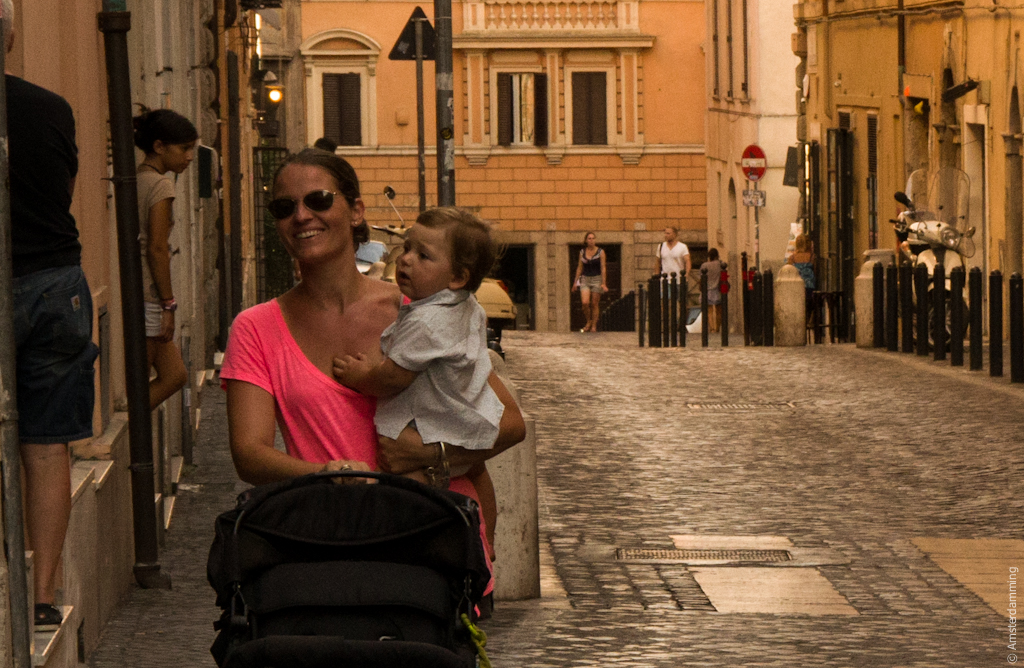 Rome, Smiling Woman with Child