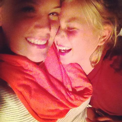 Hugs goodnight are extra long tonight. #love
