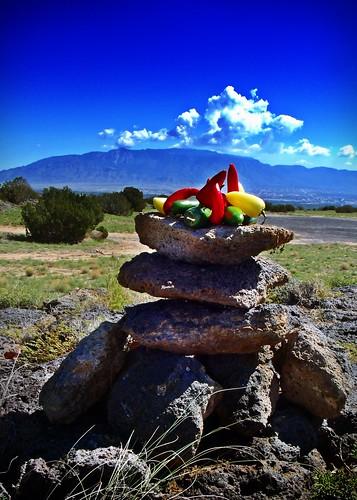 newmexico volcano lava chili albuquerque cairn sandiamountains chiliconcarne westmesa greenchili redchili lavacone jalopenos stonecairn yellowchili volcanocliffs lavacairn