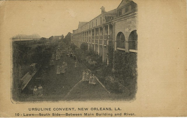 The 3rd Ursuline Convent building in the 9th Ward at the turn of the century.