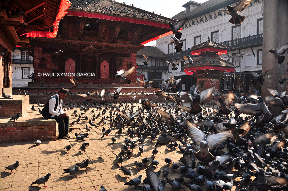 Kathmandu's Durbar Square in the mornings