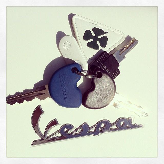 #Vespa LX用Top Boxのキーはメインキーと似たデザインの別体品。