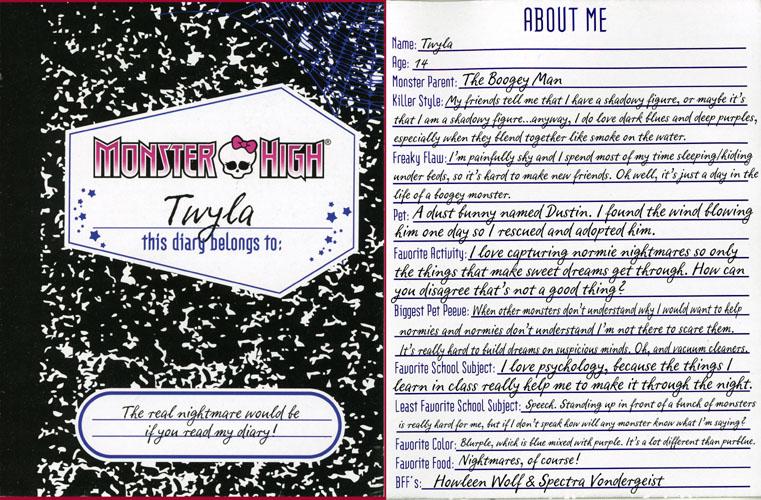 3. Twyla's Diary