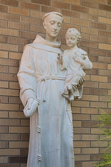 Saint Anthony Roman Catholic Church, in Glennon, Missouri, USA - statue of Saint Anthony
