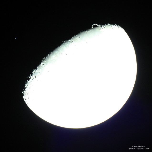 Picture 040 occultation Spica by the Moon.
