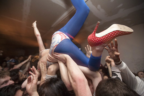 High Heels Crowd Surf, by Tod Seelie. From Bright Nights: Photographs of Another New York, published by Prestel.