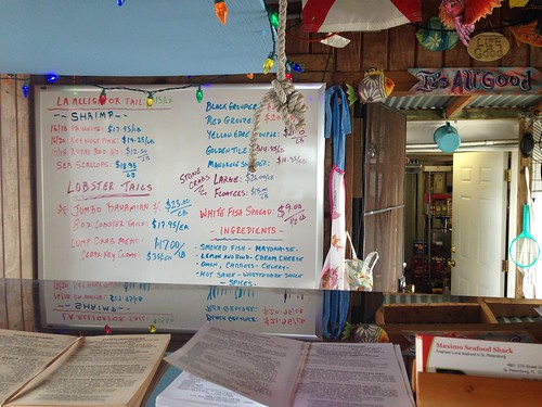 Today's Menu at Maximo Seafood Shack, St. Petersburg, Florida