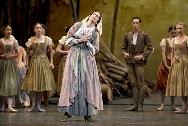 The Royal Ballet Giselle Act I Genesia Rosato as Berthe ©ROH/Tristram Kenton 2011