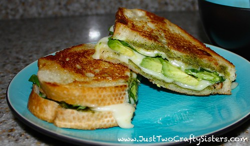 Pesto, spinach & avocado grilled cheese recipe