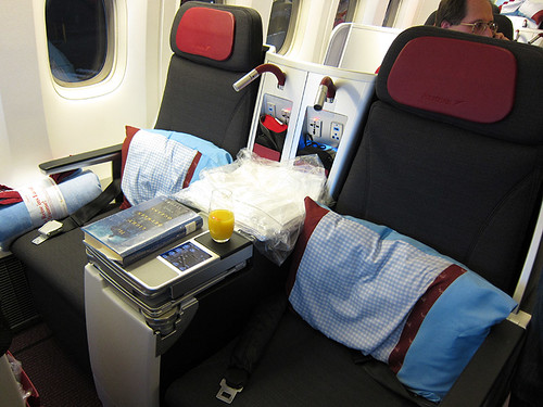 our two business class seats