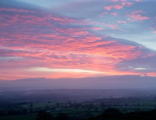 sunrise day cloudy flintshire moelygaer rhosesmor nikond800
