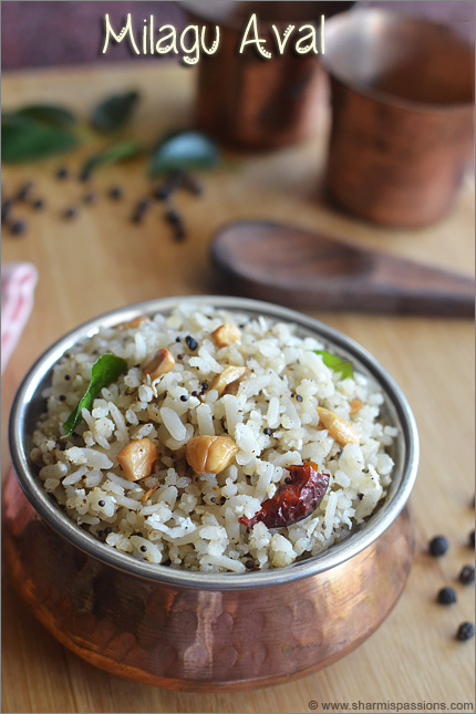 Pepper Poha Recipe