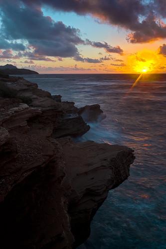 beach sunrise hawaii shipwreck kauai poipu shipwreckbeach