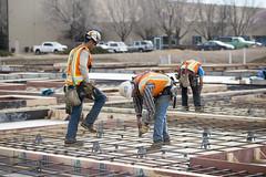 New building construction site.