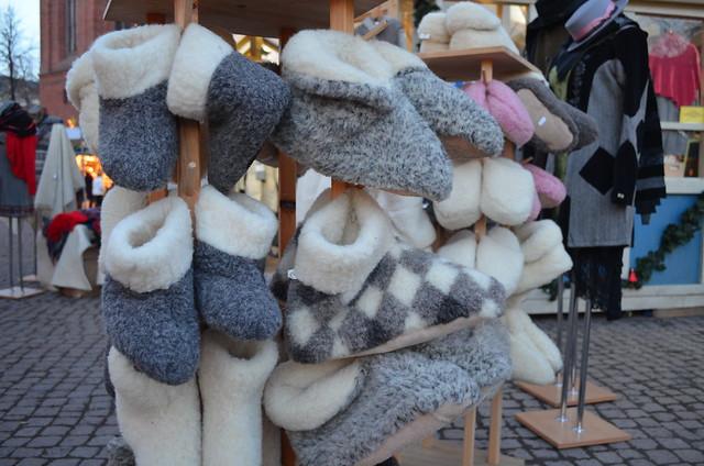Wiesbaden Sternschnuppenmarkt wool slippers