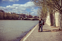 Kissing On The Bank Of The Seine
