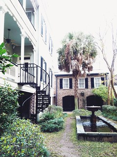 historic home & yard in savannah