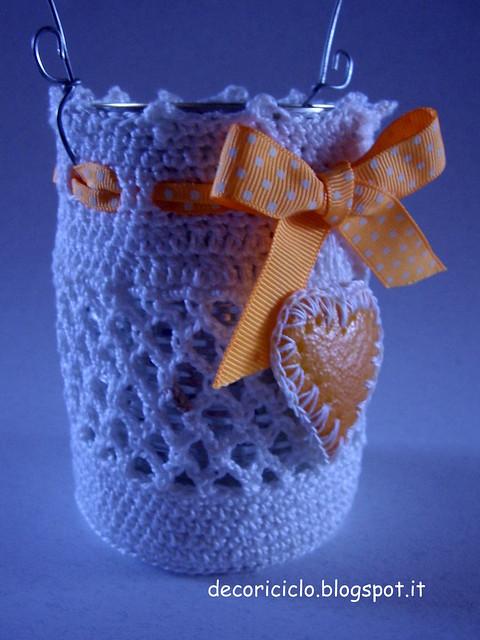 lanterna con barattolo di latta e buccia d'arancia 3