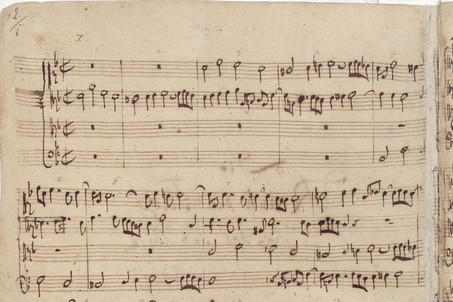 J.S. Bach's autograph of Contrapunctus I of Die Kunst der Fuge (The Art of Fugue)