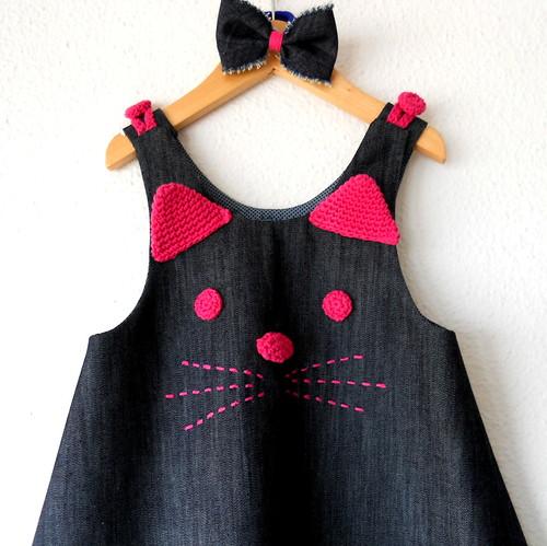 vestido gatita