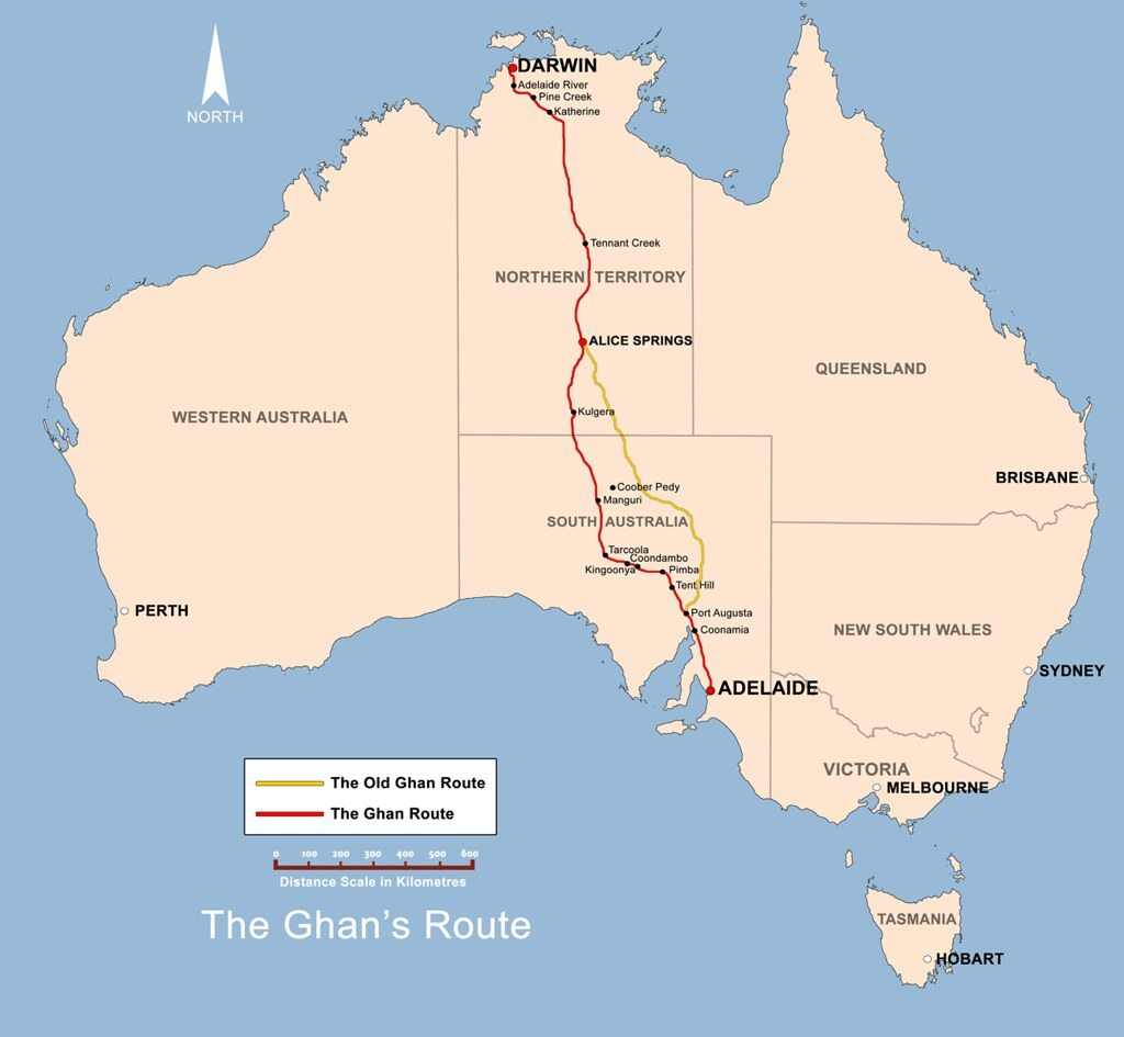 The_Ghan_route_map