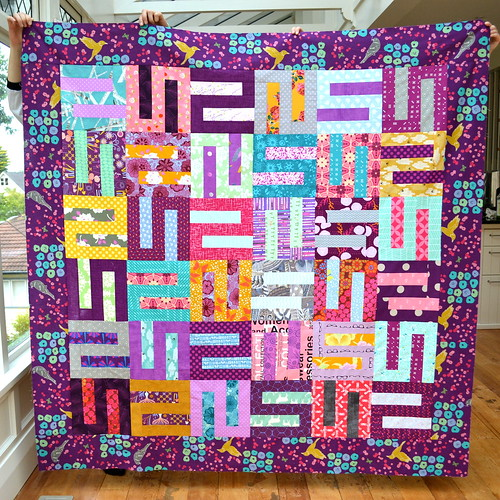 Purple S-block quilt
