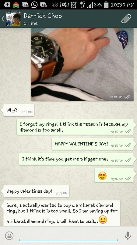 Vday Conversation with the husband
