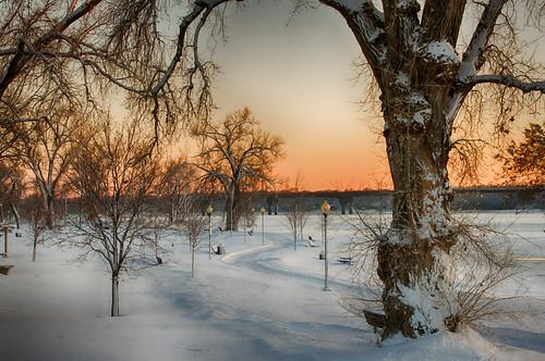 park snow weather st wisconsin river sunsets places hudson hdr lakefront croix techniques stcroixriver lakefrontpark