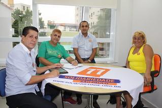 David Martins, Ocimar Nogueira, Fábio Pereira e Regina de Matos Nogueira debatem eleições 2014