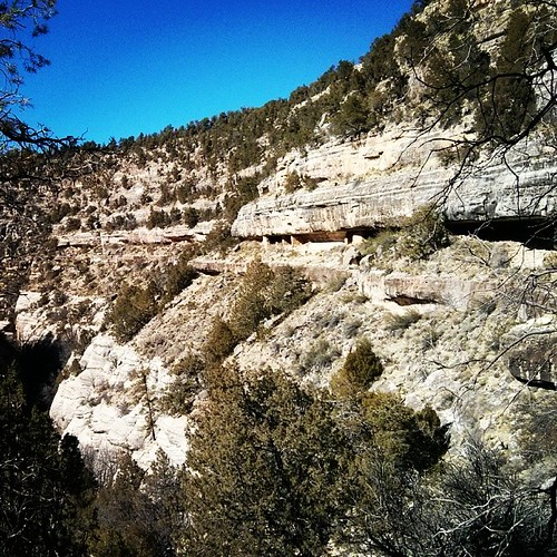 We were on a cliff at Walnut Canyon National Park.