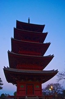Five Storied Pagoda in Twilight (Honmonji Temple)