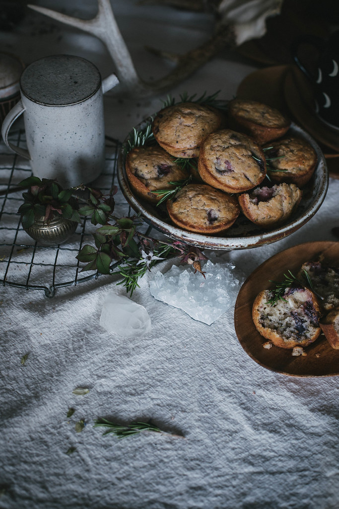 Strawberry & Rosemary Buttermilk Muffins + Tea Blending