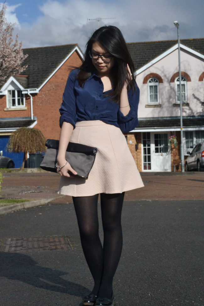 Daisybutter - UK Style and Fashion Blog: what i wore, pop basic, casual outfits, wearable pastel outfit for spring