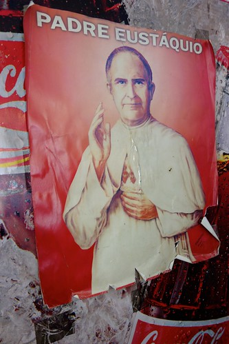 Poster of Padre Eustaquio on Coca Cola machine