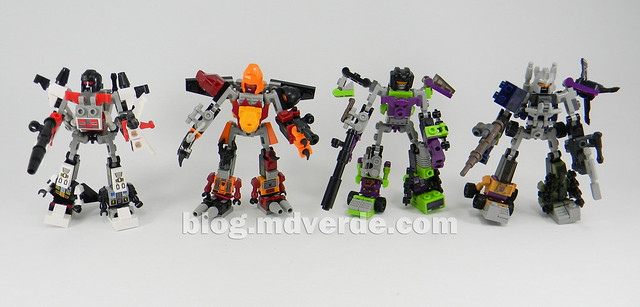 Transformers Devastator Kre-O - modo combinado vs otros Kre-O