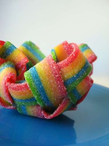 Rainbow candy baskets