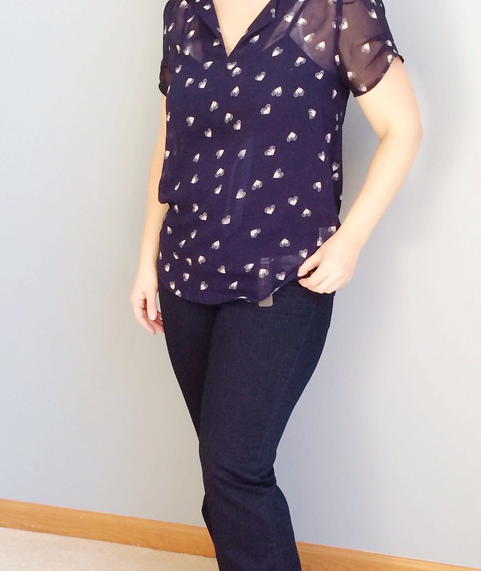 Stitch Fix Blouse and Jeans