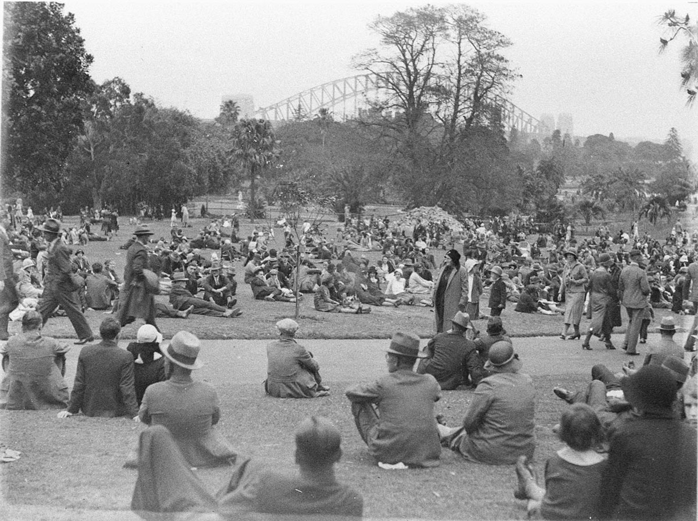 Crowded Botanic Gardens, c. 1930s by Ted Hood