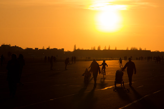 Sunset at Tempelhof Airport Park