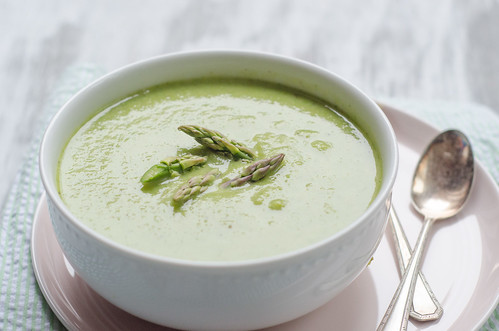 Pink Parsley(Creamless) Creamy Asparagus Soup