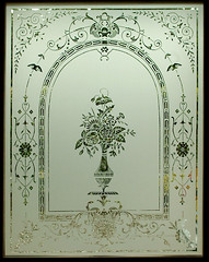 Edwardian etched glass door reproduction. Stirling, Scotland. www.rdwglass.com ...