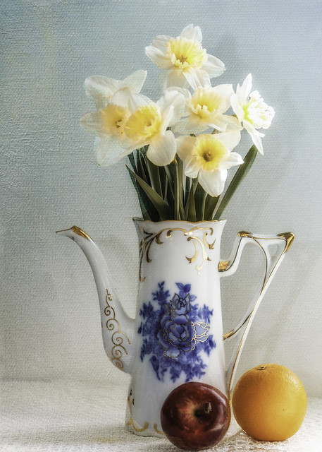 Daffodils and Fruit
